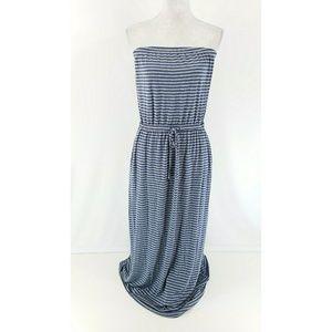 Cynthia Rowley Striped Strapless Maxi Dress